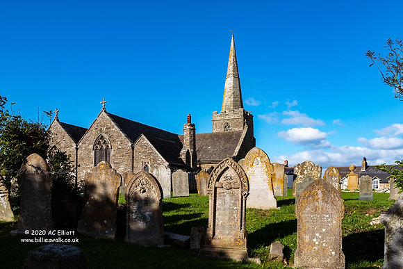 St Gerrans Church photo and fine art print