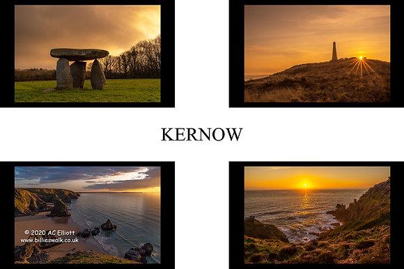 Kernow Sunset St Piran Flag Fine Art Print