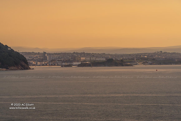 Morning glow over Plymouth photo and fine art print