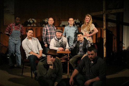The cast of, 'Of Mice and Men'