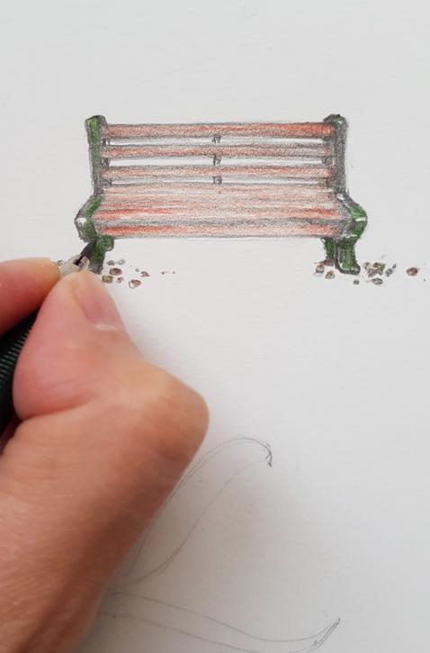 Lover's bench