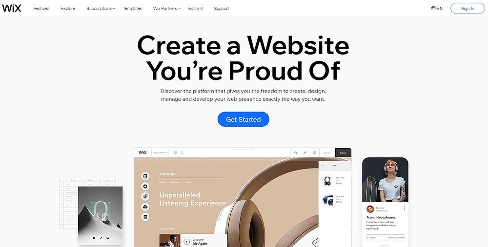 wix websie editor