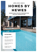 Blue and White Modern Real Estate Newsle