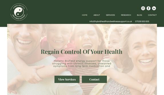 wix webs design (health)