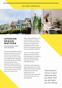 Simple White and Yellow Real Estate News