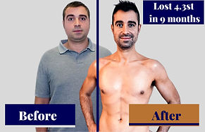 Before and after weight loss in orpington