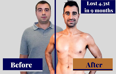 client before and after weight loss