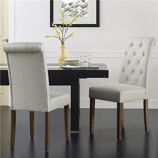 Fabric Tufted Dining Chair Four Color Options