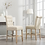 Thumbnail: Fabric Tufted Counter Height Stool