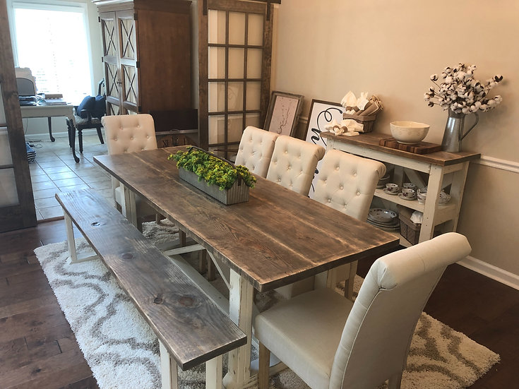 Reclaimed Pine Style Table