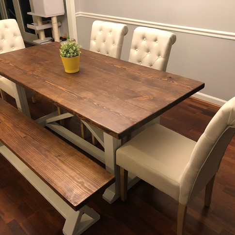 The Original: Special Walnut Top and White Legs