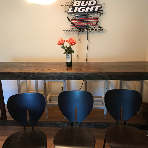 Custom Bar: Dark Walnut