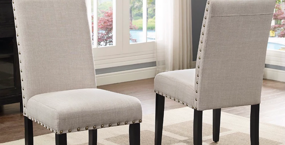 Buttoned Upholstered Chair (2 Height Options)