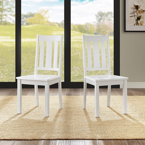 White Wooden Farmhouse Chair