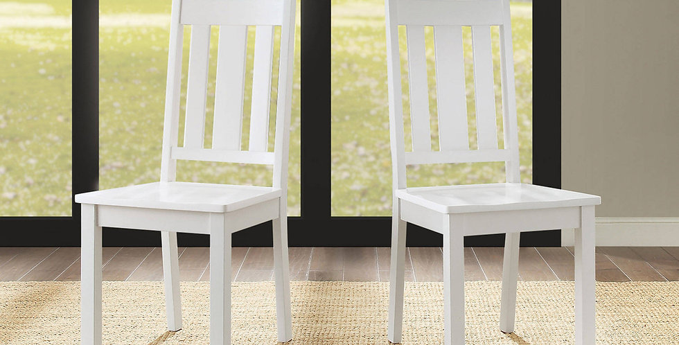 White Slat Back Chair