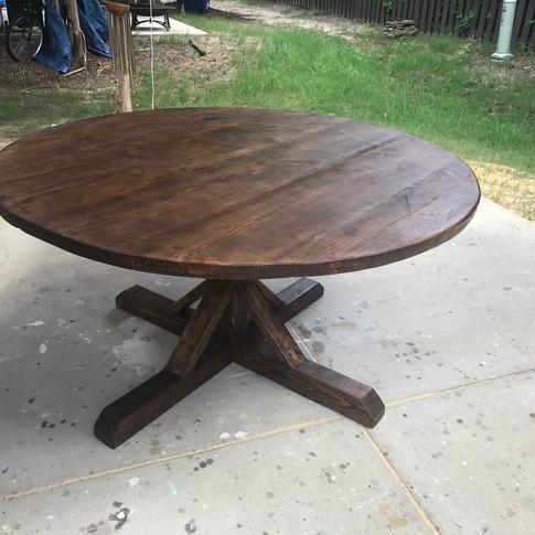 The Round Farmhouse Table- Special Walnut
