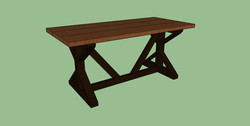 southern charm design special walnut black legs