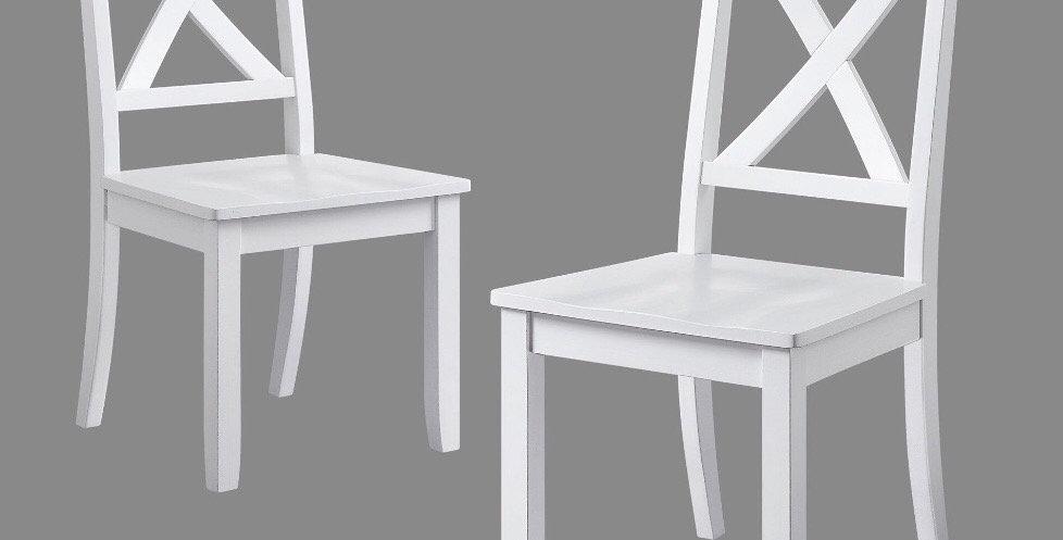White X-Back Farmhouse Chair