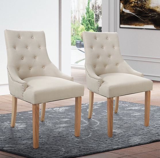 Elegant Tufted Dining/Accent Chair