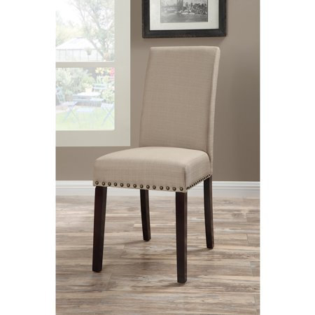 Buttoned Upholstered Dining Chairs (Set of 2)