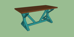 southern charm design special walnut turquois legs