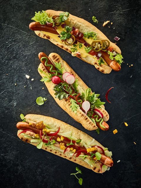 Hot Dogs Foodstyling