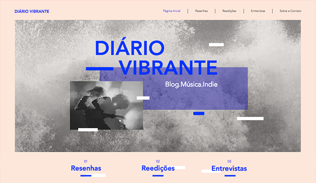Música website templates – Blog de Música Indie