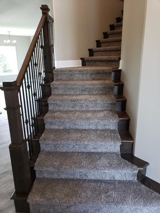 Entry stairs with end caps