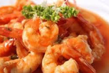 Scampi (9) in romige tomatensaus