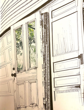 Taylor White 100,000 Square Feet Ink and watercolor on paper  14inx11in Core Drawing Peter Abrami