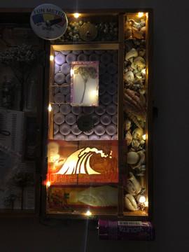 "Danielle Close Untitled  Found objects 14.5"" x 6.5"" x 4"" 2020   Instructor: Erin Cunningham Core Studio: 3D"
