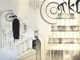 Lauren Jecker 100,000 Square Feet Ink on paper  18inx24in Core Drawing Peter Abrami