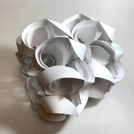"""Hayden Howe Untitled  2020 Paper 10"""" x 10"""" x 9""""   Instructor: Erin Cunningham Core Studio: 3D"""