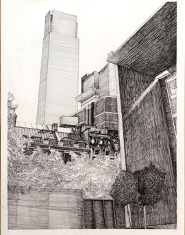 Madison Moore 100,000 Square Feet Ink on paper  24inx18in Core Drawing Peter Abrami