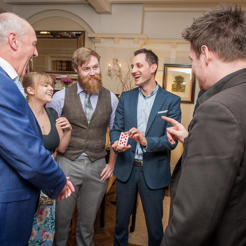 Hampshire wedding magician