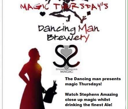 The dancing man brewery Southampton magic Thursdays