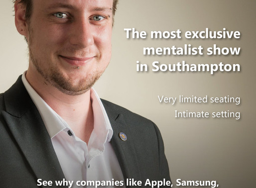 The most exclusive mentalist show in Southampton