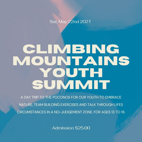 Click here to register for the Climbing Mountains Youth Summit