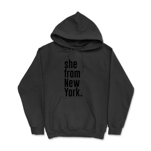 She from New York Hoodies