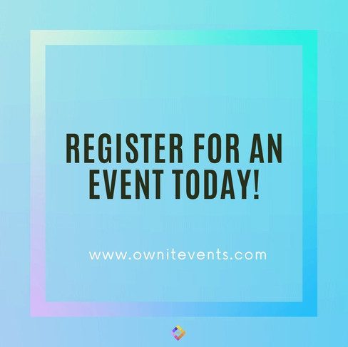 JOIN US FOR 1 OR ALL OF OUR AMAZING EVENTS!