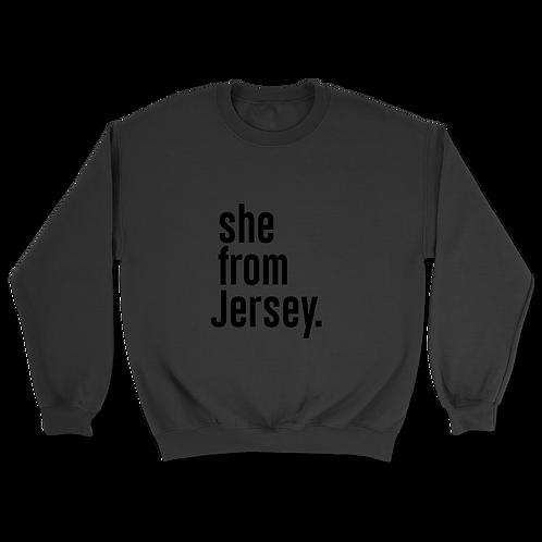 She from Jersey Sweatshirt
