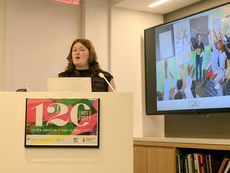 Maia recognized as one of the #120under40 top young leaders in family planning