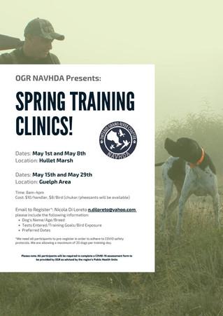 2021 Spring Training Clinics