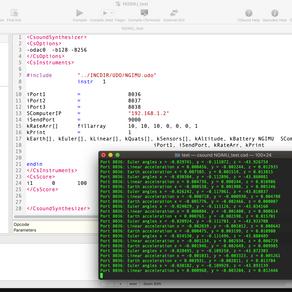 New Csound UDO for NGIMU sensor