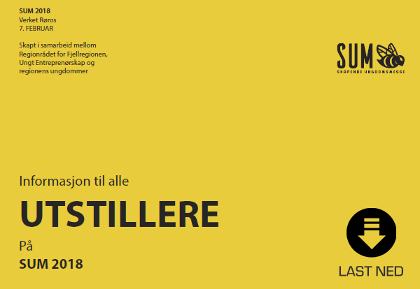 Info til alle utstillere på SUM 2018