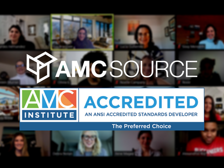 AMC Source Achieves AMC Institute Accreditation