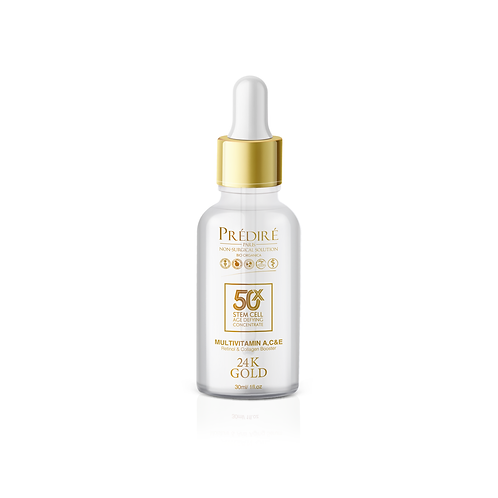 Prédire Paris 1oz 50X 24K Gold and Retinol age defying concentrate serum