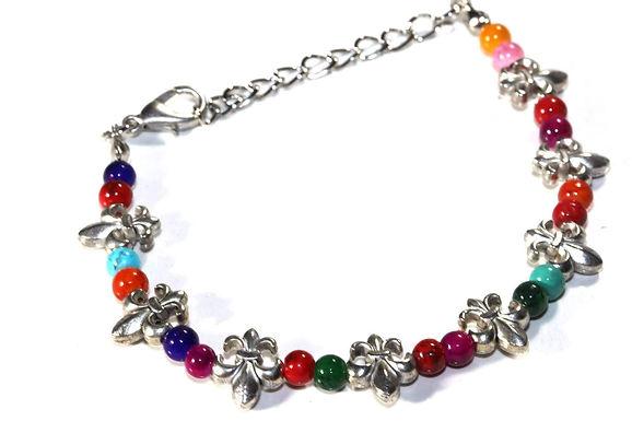 Fleur De Lis Colorful Bracelet