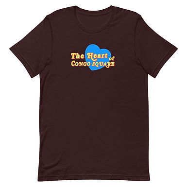 The Blue Heart Of Congo Square Text Tee
