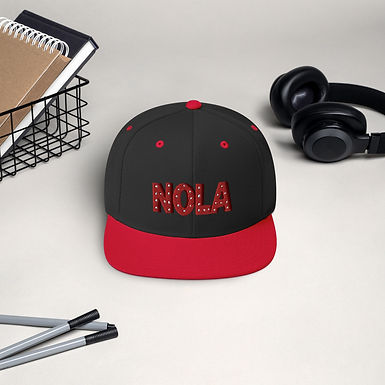 NOLA Embroidered 3D Snapback Hat